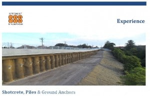 Experience Shotcrete Piles and Anchors
