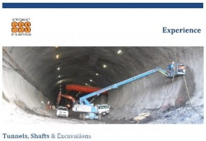 Experience Tunnels, Shafts and Excavations