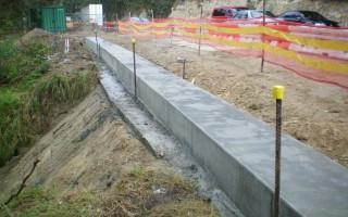 Capping beam - slip remediation