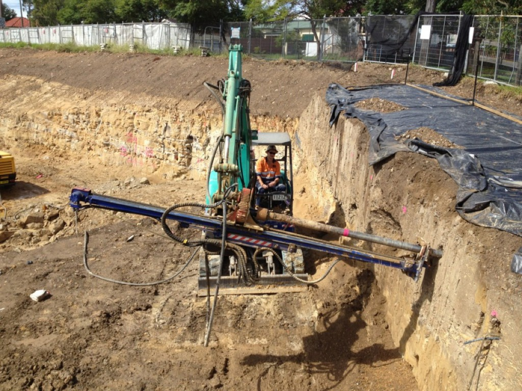 Soil Nail Installation : Soil nailing specialist site services